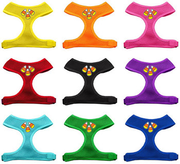 Candy Corn Soft Mesh Dog Harnesses