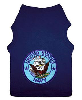 US Navy Patch Style Dog Tank