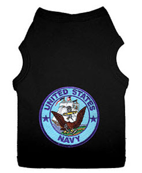 US Navy Patch Style Dog Tank