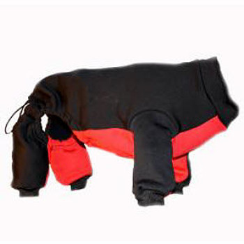 Dog Overall Snowsuit - Black/Red - 5 - 110 lbs