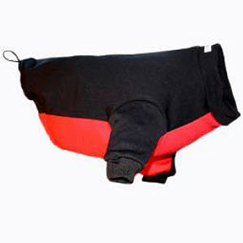 Dog Snow Jacket - Black/Red - 5 - 110 lbs