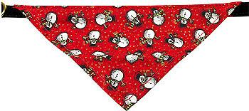 Dog Collar Bandana -  Christmas Snowmen