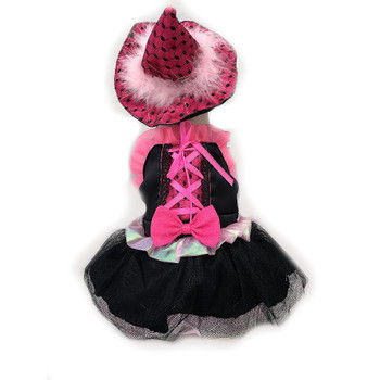 Pet Dog Costume - Pink Bow Witch
