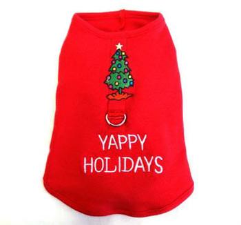 Yappy Holidays Harness-Tee - XXS