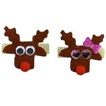 Christmas Reindeer Dog Barrettes