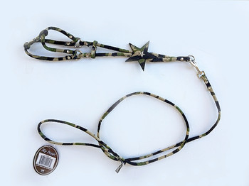 Camo Star Charm Step In Dog Harness