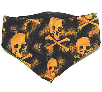 Dog Bandana - Orange Skulls