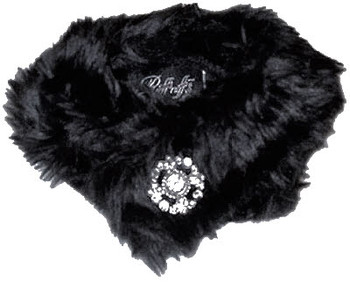 Faux Mink Stole Black by Ruff Ruff Couture