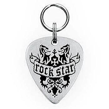 Rock Star Engravable Sterling Silver Guitar Pick Dog Tag 2