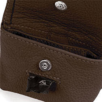Brown Leather Leash Accessory Poop Bag Holder