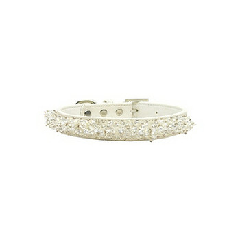 Faux Croc Beaded Jeweled Dog Collars