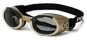 Chrome ILS Doggles with Smoke Lens Dog Sunglasses