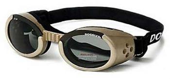 Chrome ILS Doggles with Smoke Lens Dog Sunglasses