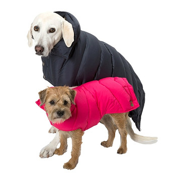 Black & Pink Down Puffer Coat by Canine Styles