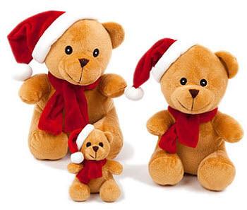 Holiday Bear Dog Toys