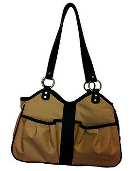 Metro 2 Tan Pet Dog Carrier by Petote