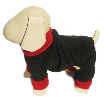 NIX Fleece Dog Overall Snowsuit - Black