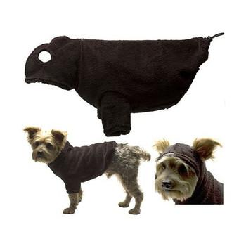Dog Hoodie with Earholes - Black - 5 - 110 lbs