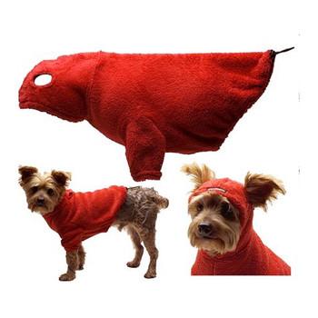 PILUS Dog Hoodie with Earholes - Red - 5 - 110 lbs