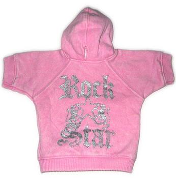 Rock Star - Pink Dog Hoodie