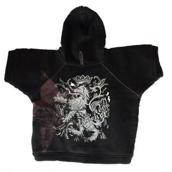 Bad Ass Rocker Dog Hoodie - Black