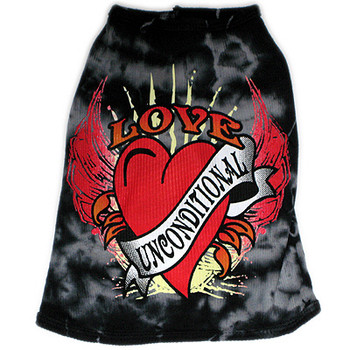 Love Unconditional Black Dog Tank Top