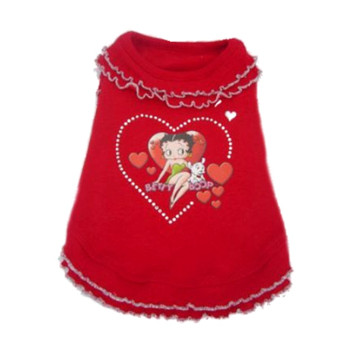 Betty Boop Red Ruffle Dog Dress