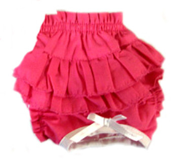 Ruffled Dog Panty - Solid Pink