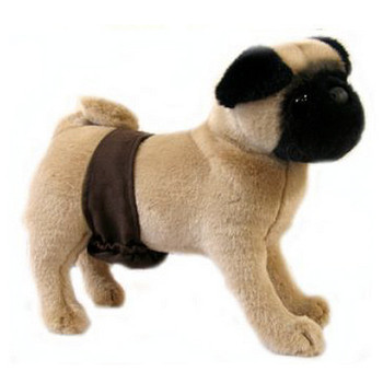 Brown Suede P-Pocket Dog Belly Band