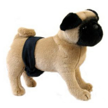 Navy Suede P-Pocket Dog Belly Band