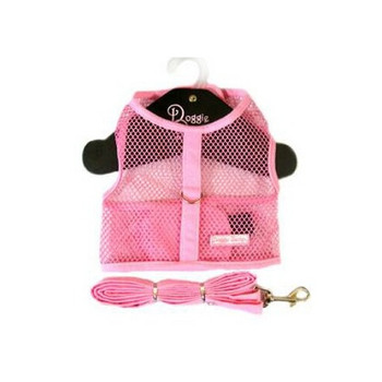 Pink Netted Harness with Leash by Doggie Design