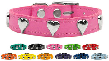 Heart Leather Dog Collar