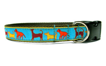Standing Dog Jacquard Dog Collar & Harnesses
