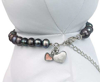 Black Pearl Pet Dog Necklace