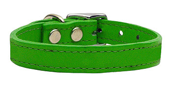 Emerald Green Leather Dog Collars