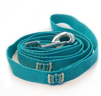 Southwestern Beaded Turquoise Dog Leash