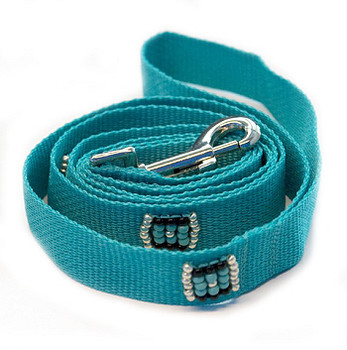 Southwestern Beaded Navajo Turquoise Dog Leash