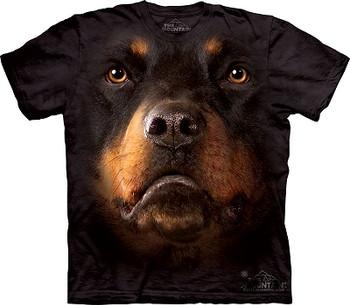 Rottweiler Dog Face T-Shirt or Nightshirt