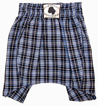 Dog Belly Boxer Shorts - Blue Cotton