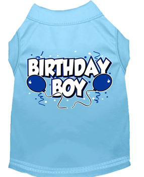 Birthday Boy Balloons Dog Tank Shirt