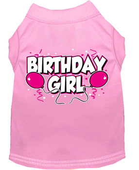 Birthday Girl Balloons Dog Tank Shirt