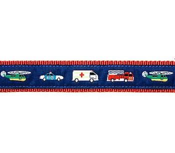 Dog Collar - Emergency Vehicles - 1 1/4
