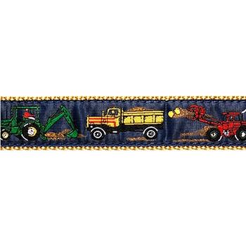 Dog Collar - Construction Vehicles - 1 1/4