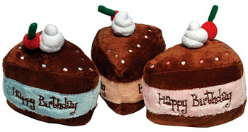 Birthday Cake Plush Dog Toys