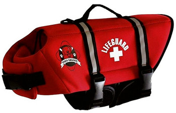 Red Neoprene Pet Life Vest