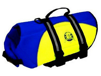 Blue/Yellow Neoprene Pet Life Vest