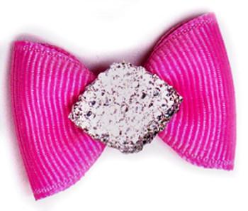 Dog Hair Bow Barrette - Diamonds are a Girls BFF