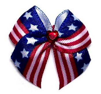 Dog Hair Bow Barrette - Team USA Bows