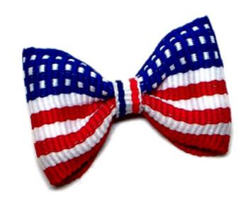 Dog Hair Bow Barrette - Mr President