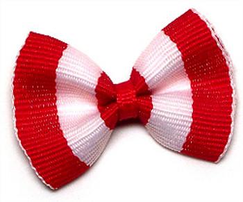 Dog Hair Bow Barrette - Beach Blanket Red